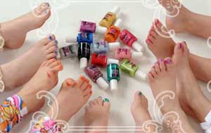 little girls pedicure